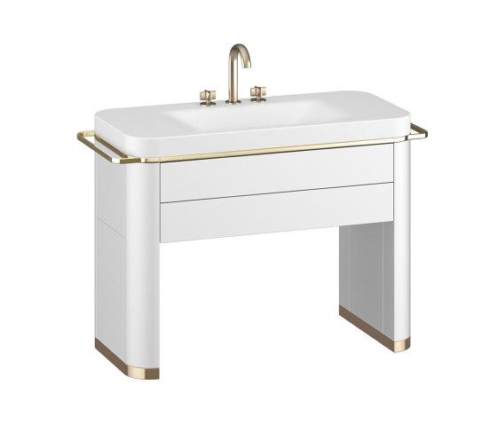 FURNITURE | Vanity unit with washbasin | Off White by Armani Roca | Wash basins