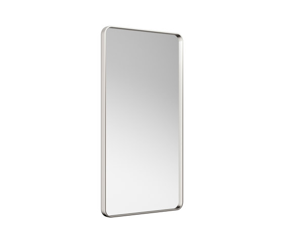 MIRRORS | Metal-framed mirror | Brushed Steel by Armani Roca | Bath mirrors