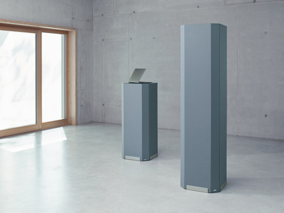 Acoustic tower Sound Balance, 45 x 180 cm, dark grey by Sigel | Privacy screen