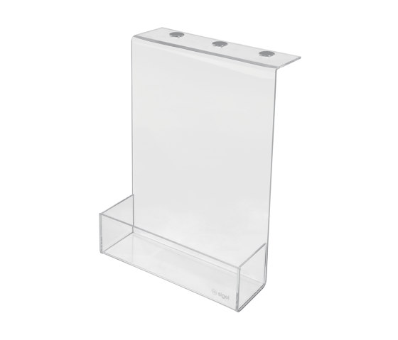 Storage box, made of transparent acrylic by Sigel | Desk tidies