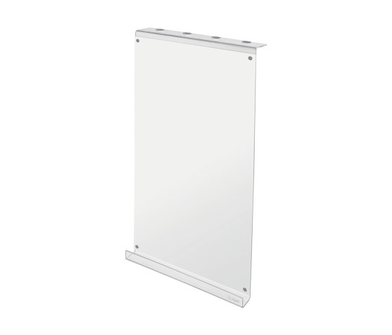 Writing panel, made of transparent acrylic with a white writing surface by Sigel | Flip charts / Writing boards