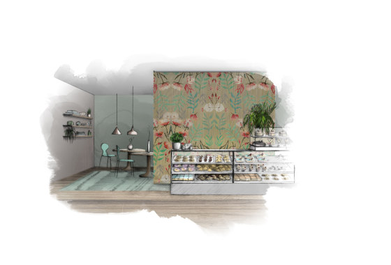 Floral Blooming Kaleidoscope von Kriskadecor | Metall Gewebe