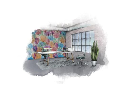 Floral Tulips Valley by Kriskadecor | Metal meshes