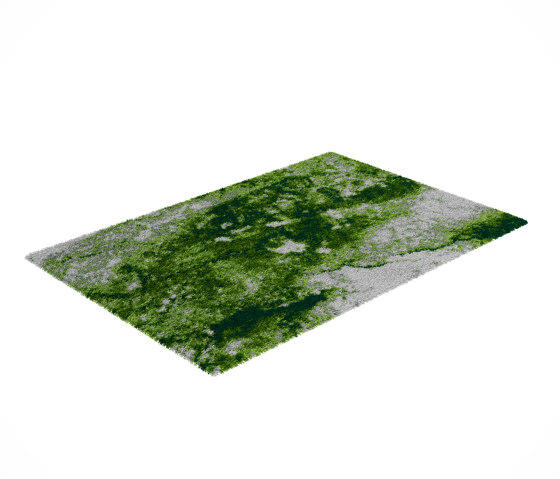 70's | Green Forest Rug by CRISTINA JORGE DE CARVALHO COLLECTIONS | Rugs