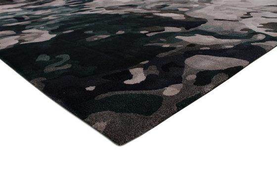 Fortuny | Green Velvet Rug by CRISTINA JORGE DE CARVALHO COLLECTIONS | Rugs