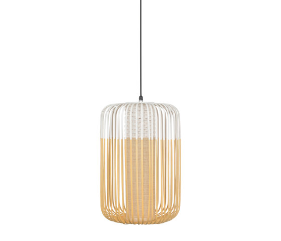 Bamboo | Pendant Lamp | L White | Outdoor by Forestier | Outdoor pendant lights