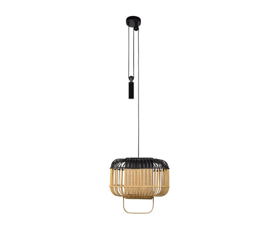 Bamboo-Square | Pendant Lamp | Square S Black by Forestier | Suspended lights