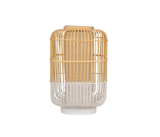 BAMBOO-square | LAMPE | L blanc de Forestier | Luminaires de table