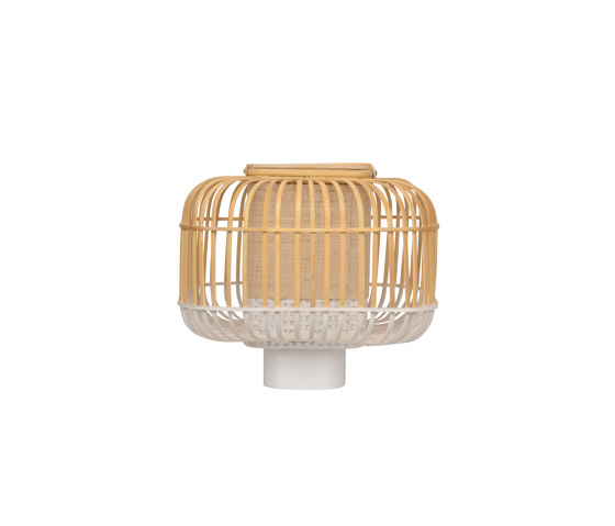 Bamboo-Square | Table Lamp |-Square S White by Forestier | Table lights