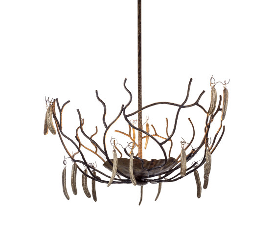 Carrubo | Carob beans chandelier by Il Bronzetto - Brass Brothers & Co | Suspended lights