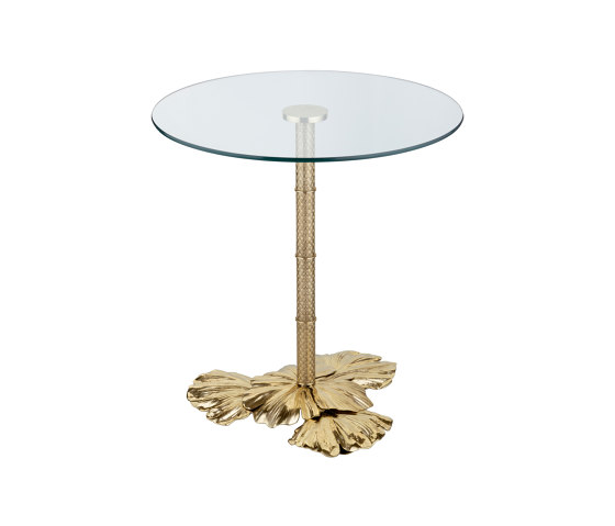 Gingko Biloba   Leaves base table small by Il Bronzetto - Brass Brothers & Co   Bistro tables