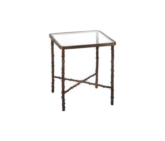 Wild Rose | Squared rosehip stalks table small de Il Bronzetto - Brass Brothers & Co | Mesas auxiliares