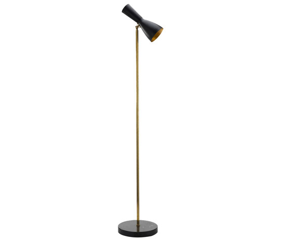 Wormhole | Vintage Floor lamp de Il Bronzetto - Brass Brothers & Co | Luminaires sur pied