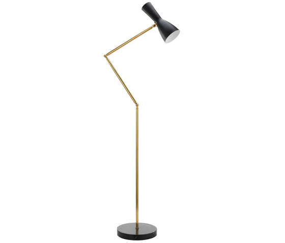 Wormhole   Jointed Vintage Floor lamp de Il Bronzetto - Brass Brothers & Co   Luminaires sur pied