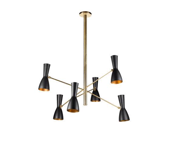 Wormhole | Six lights vintage chandelier de Il Bronzetto - Brass Brothers & Co | Suspensions