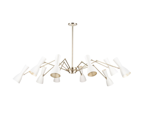 Wormhole   Ten lights joint vintage chandelier de Il Bronzetto - Brass Brothers & Co   Suspensions