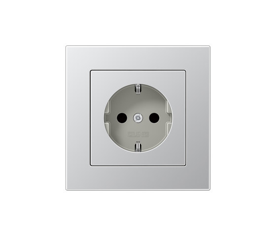 A 550 | SCHUKO-Steckdose Aluminium by JUNG | Schuko sockets