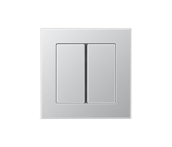 A 550 | Tastsensor F 40 2fach Aluminium by JUNG | Push-button switches