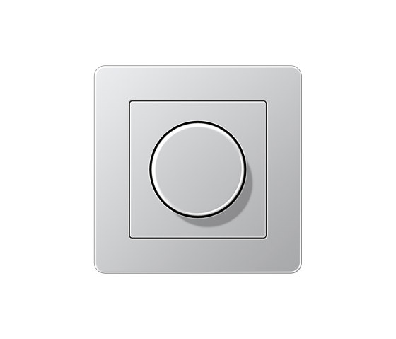 A Flow | Drehdimmer Aluminium by JUNG | Rotary switches