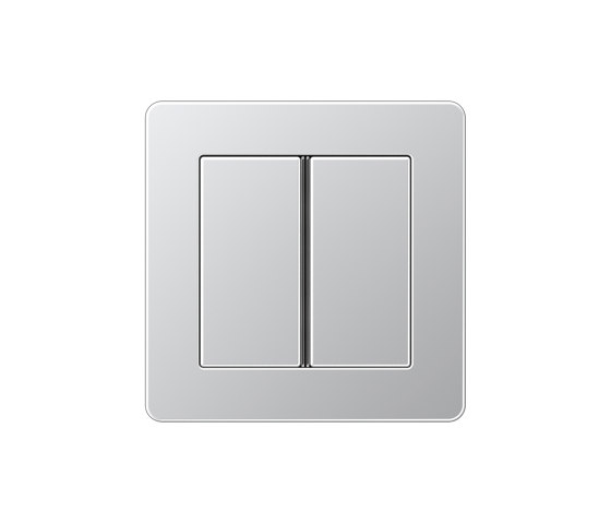 A Flow | Tastsensor F 40 2fach Aluminium by JUNG | Push-button switches