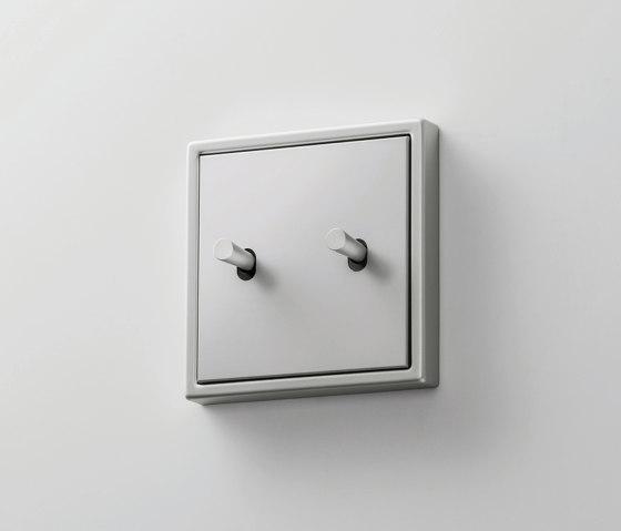LS 1912   Aluminium Kippschalter Kegel doppelt by JUNG   Toggle switches