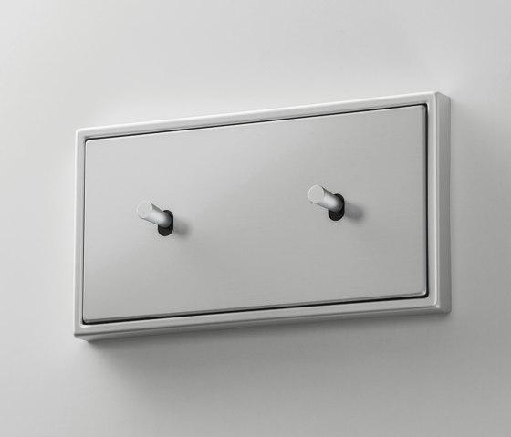 LS 1912 | Aluminium zweifach Kippschalter Kegel by JUNG | Toggle switches