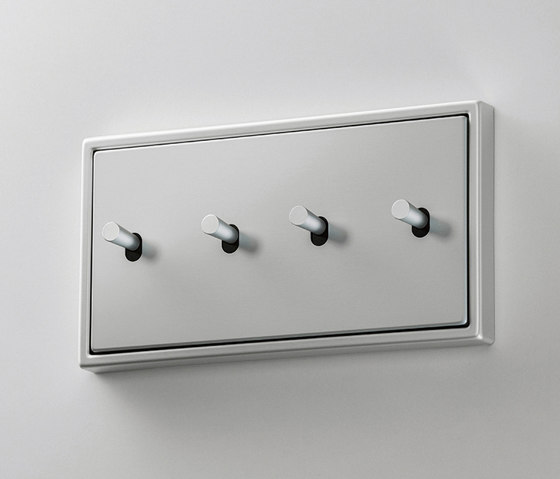 LS 1912   Aluminium zweifach Kippschalter Kegel doppelt by JUNG   Toggle switches