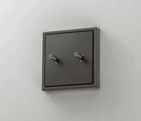 LS 1912   Dark Kippschalter Zylinder doppelt by JUNG   Toggle switches