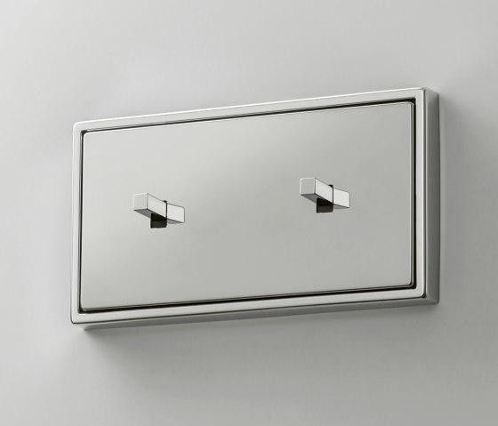 LS 1912 | Glanzchrom zweifach Kippschalter doppelt Kubus by JUNG | Toggle switches