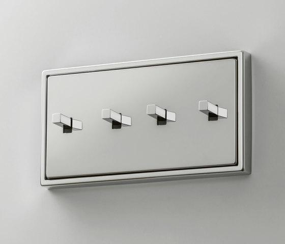 LS 1912 | Glanzchrom zweifach Kippschalter Kubus by JUNG | Toggle switches