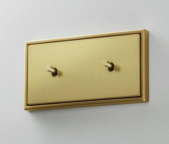 LS 1912 | Messing Classic zweifach Kippschalter doppelt Kegel by JUNG | Toggle switches