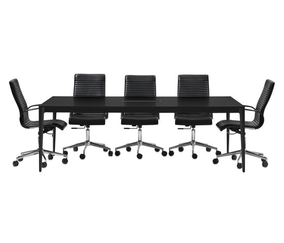 Torino Table T052 with cable tray by BoConcept | Contract tables