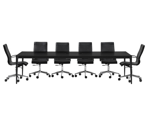 Torino Table T053 with cable tray by BoConcept | Contract tables