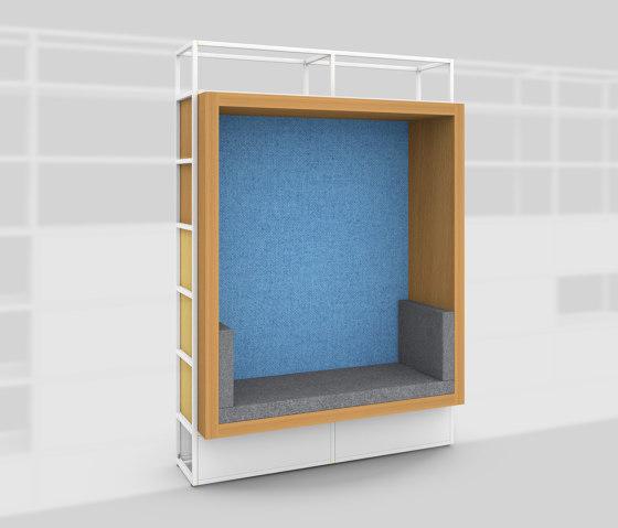 Modul H – Sitznische mit Rückwand 400 von Artis Space Systems GmbH | Regale