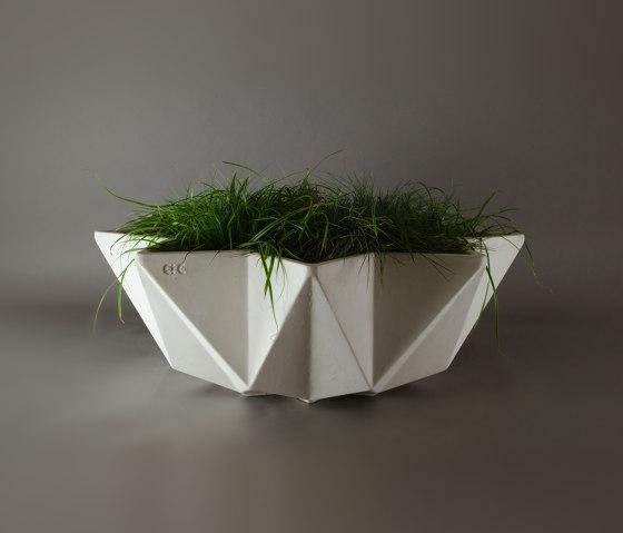 Kronen Bowl Planter, White by Adam Christopher Design   Plant pots