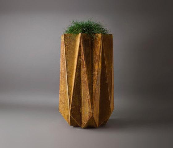 Kronen 90 Concrete Contemporary Planter, Rust Effect Finish by Adam Christopher Design   Plant pots