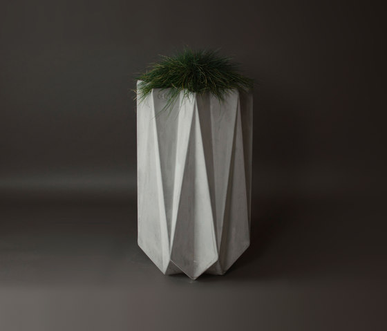 Kronen 90 Concrete Contemporary Planter, Grey Concrete by Adam Christopher Design | Plant pots