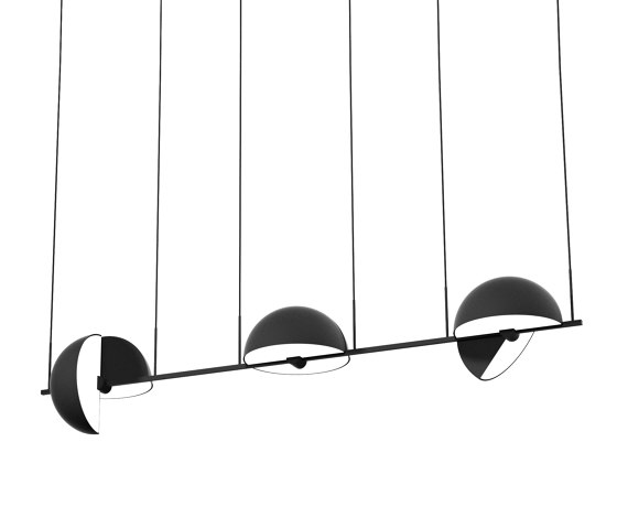 Trapeze Triplette Black by Oblure   Suspended lights