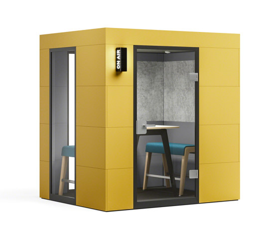 Meeting Unit |  yellow by OFFICEBRICKS | Sound absorbing architectural systems