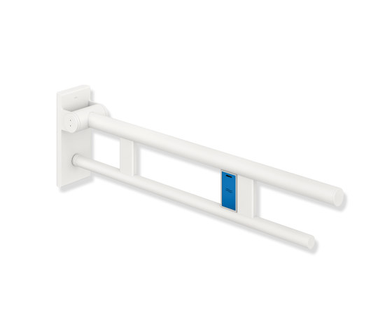 Hinged support rail Duo 700 mm  powder-coated di HEWI