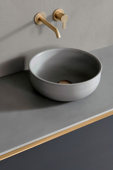 Prime Cementsolid top mounted washbasin Ø35. by Inbani | Wash basins
