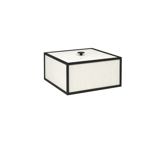Frame 20 white stained ash by by Lassen | Storage boxes