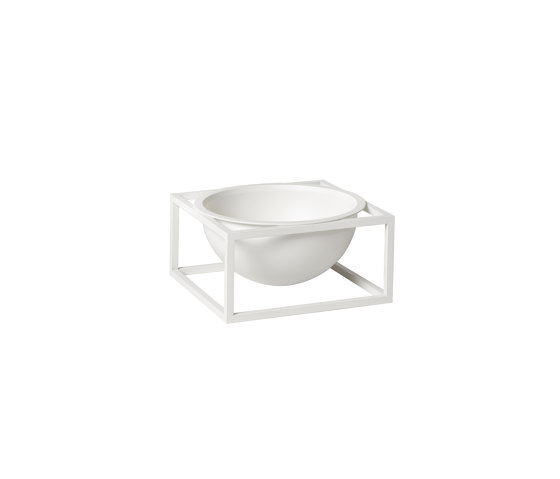 Kubus Bowl Centerpiece small white by by Lassen   Bowls