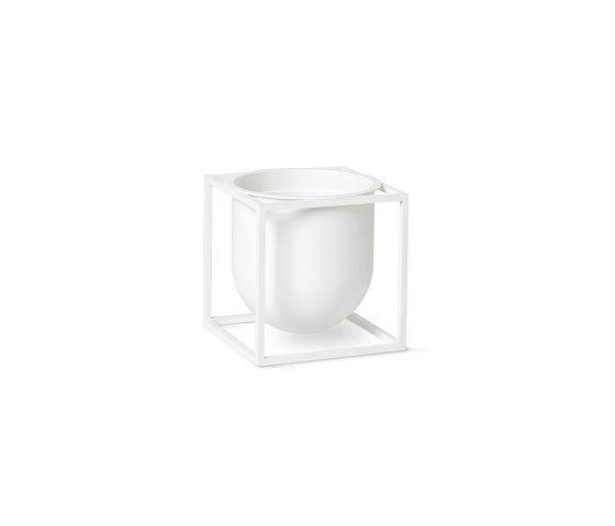 Kubus Flowerpot 14 white by by Lassen | Plant pots
