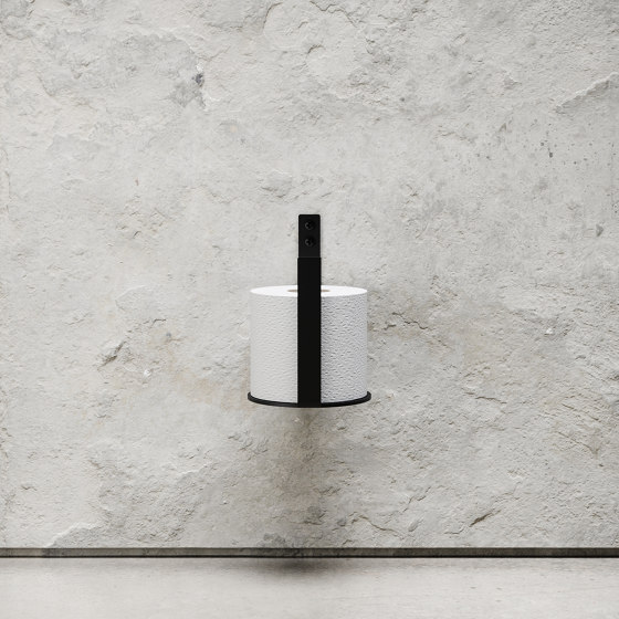 Toilet Paper Holder Extra - Black by Nichba Design | Paper roll holders