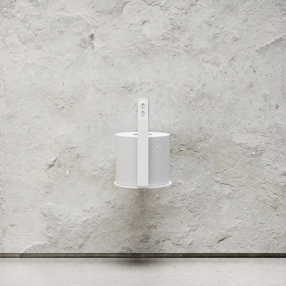 Toilet Paper Holder Extra - White by Nichba Design | Paper roll holders
