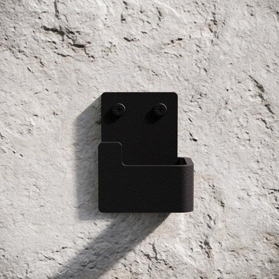Bath Hook 2-Pack - Black by Nichba Design   Towel rails