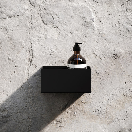 Bath Shelf 20cm - Black by Nichba Design | Bath shelves