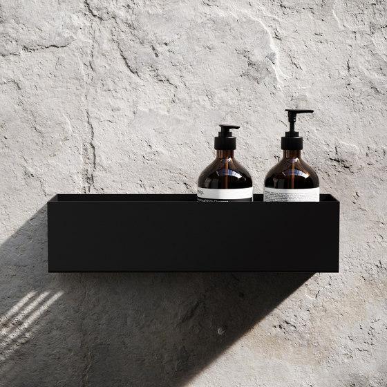 Bath Shelf 40cm - Black by Nichba Design   Bath shelves