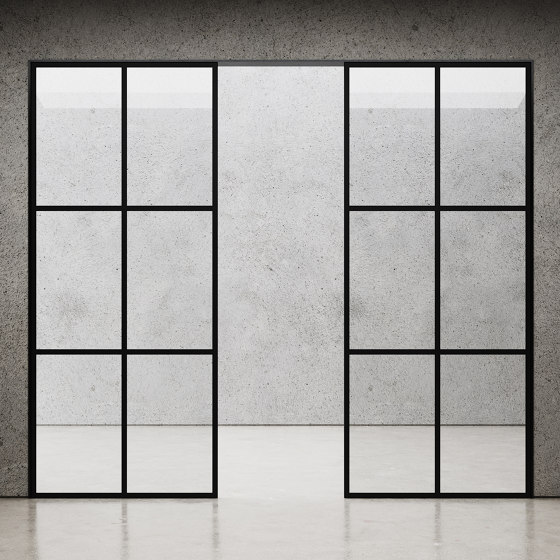 Element Room Divider Glass Wall by Nichba Design   Wall partition systems